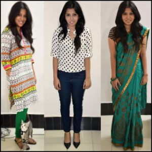 week at work sari