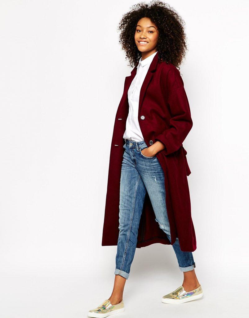 Monki Tie Waist Coat - 60% wool