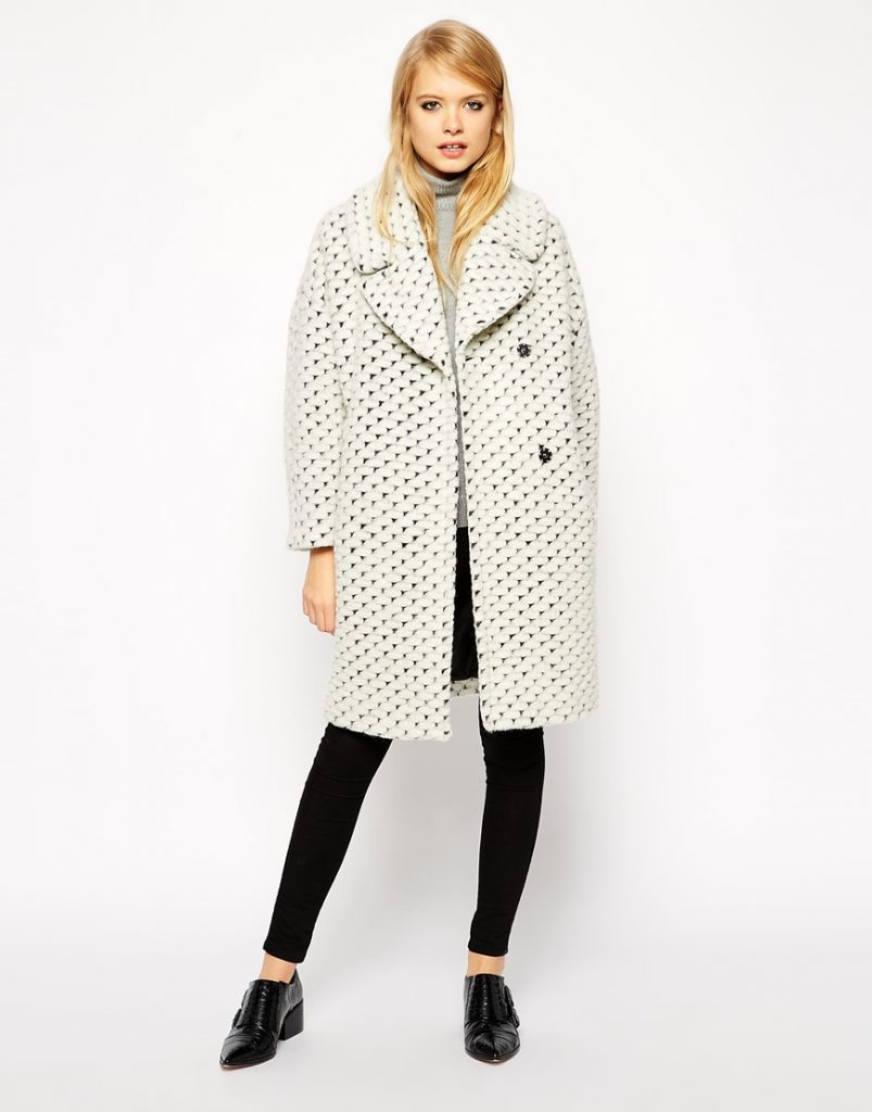 ASOS Coat With Cocoon Fit In Texture