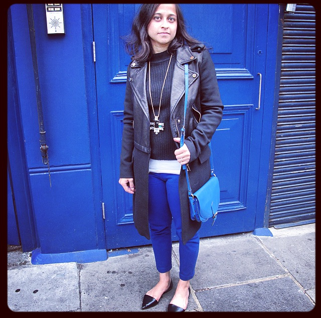 Black and Blue – and Highneck! #OOTD