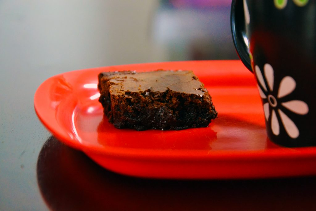 Fudgy Coffee and Chocolate Brownies