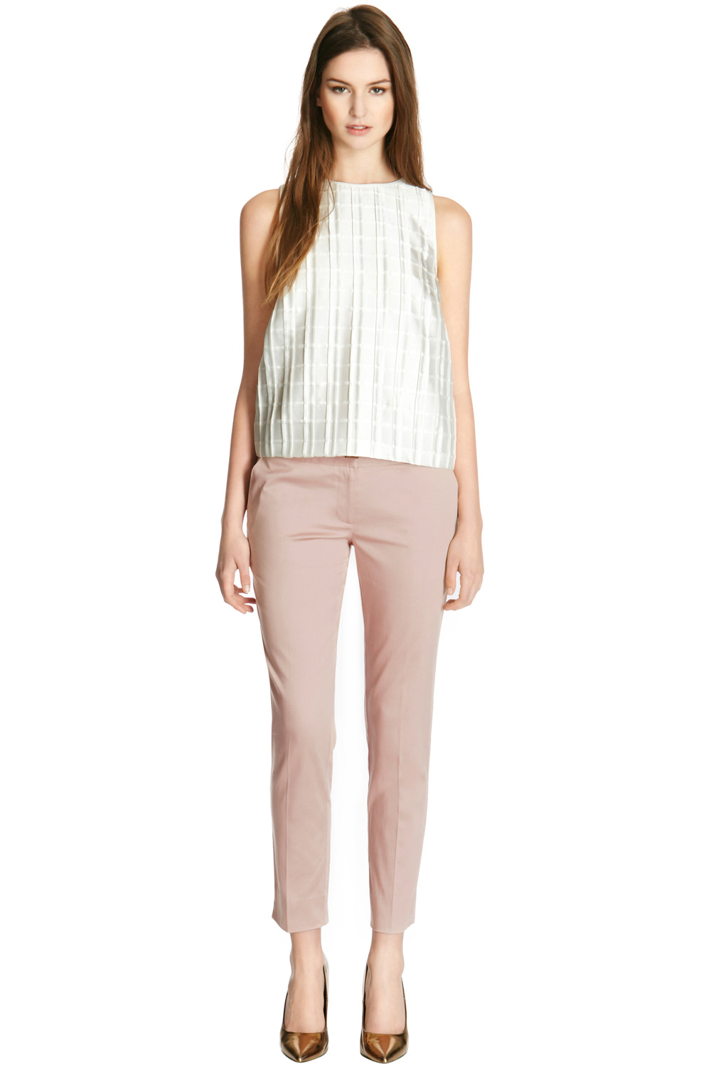 Warehouse Cotton Sateen Trousers
