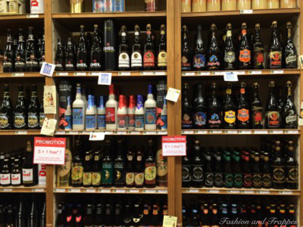 You can find more than 2500 different types of beer in Brussels - I have never seen such pretty beer bottles before