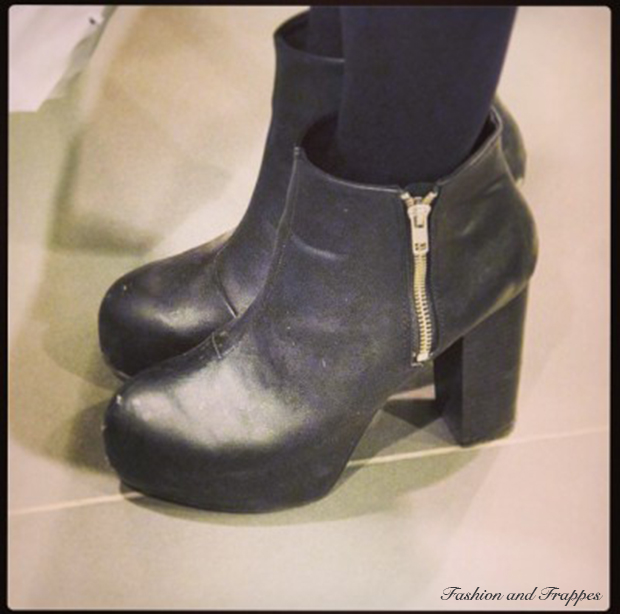Black platform booties from H&M