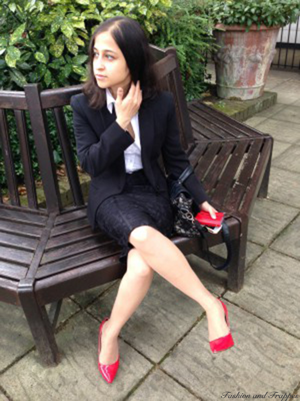 Workwear in Black, White and Little Bit of Red! #OOTD