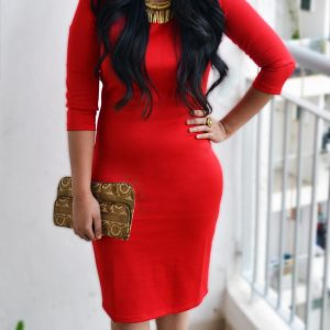 Red dress - Fashion and Frappes