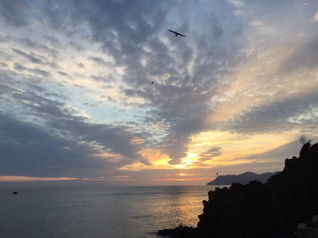 Cinque terre Italy sunset beautiful scenary