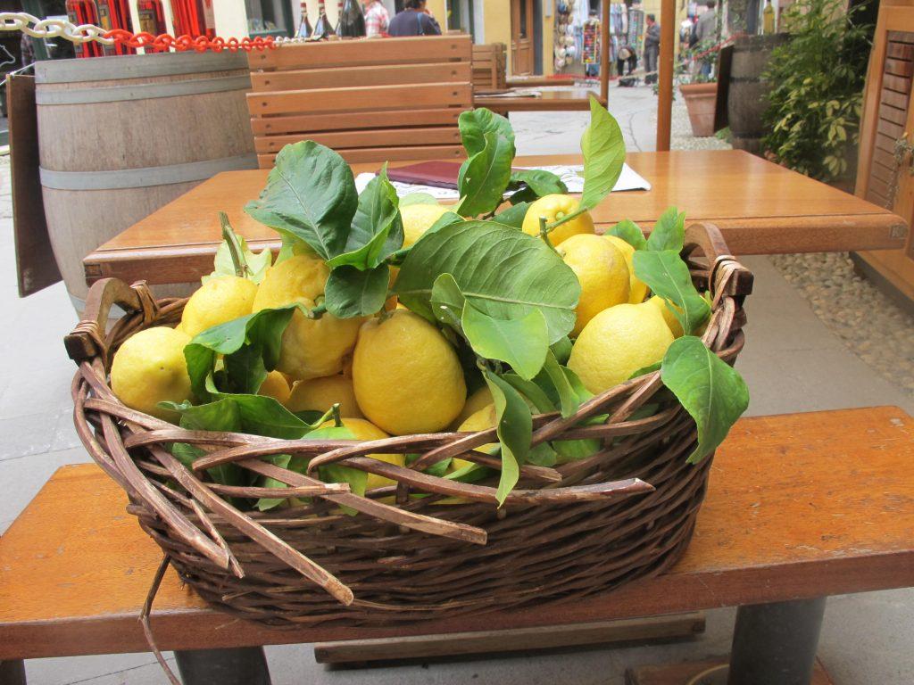 Lemon basket Cinque Terre Italy