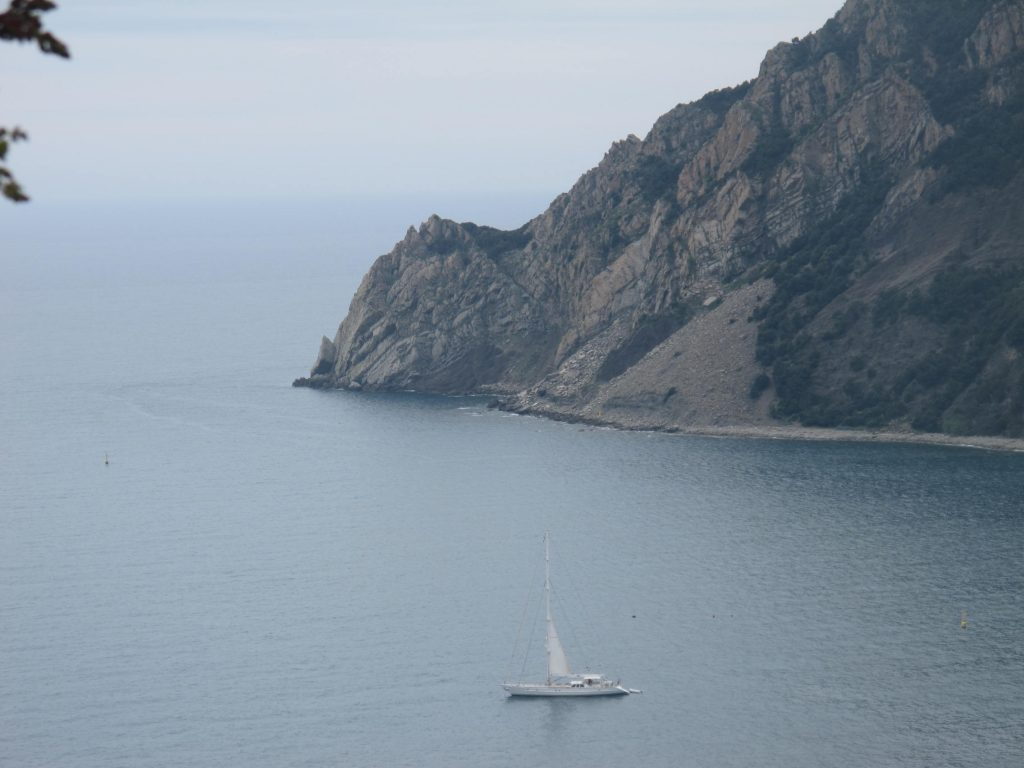 Beautiful Scenery Sailboat Cinque Terre Italy
