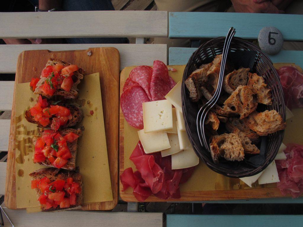 Cinque Terre Italy food platter