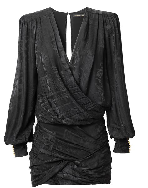 Balmain X HM black rushed dress