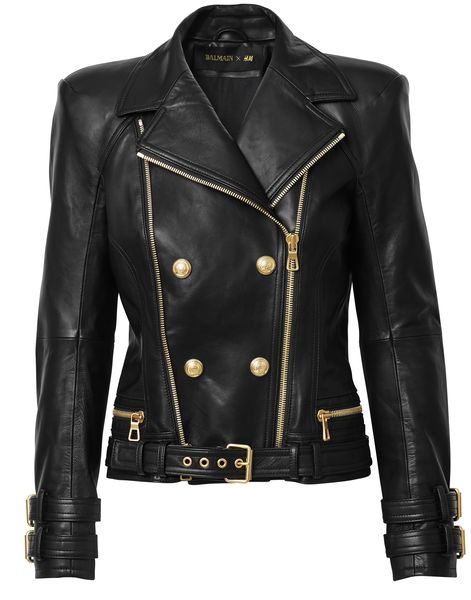 balmain-hm leather jacket