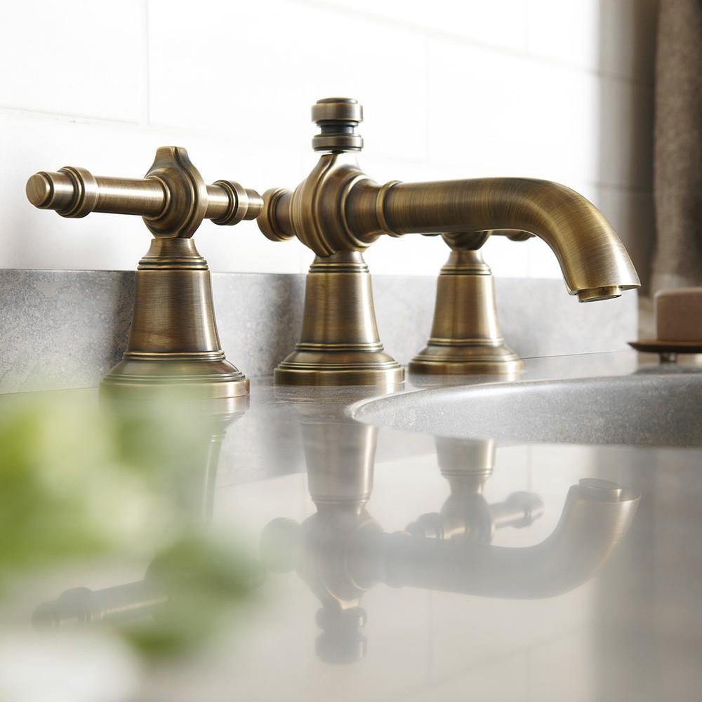 Bathroom Decor WestOne bathroom copper vintage brassware
