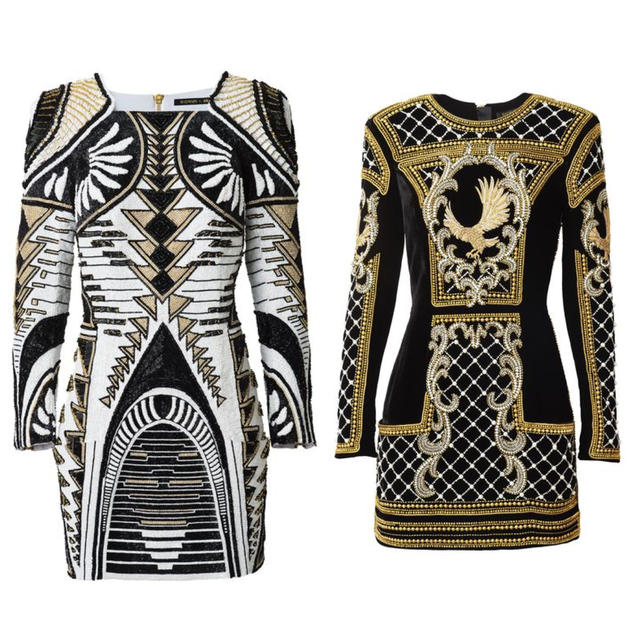 Balmain HM dress