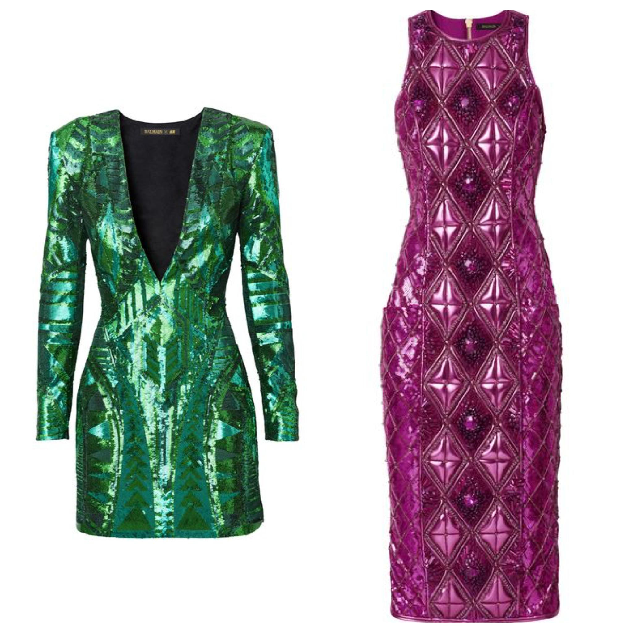 Balmain HXM Kendall jenner green dress pink