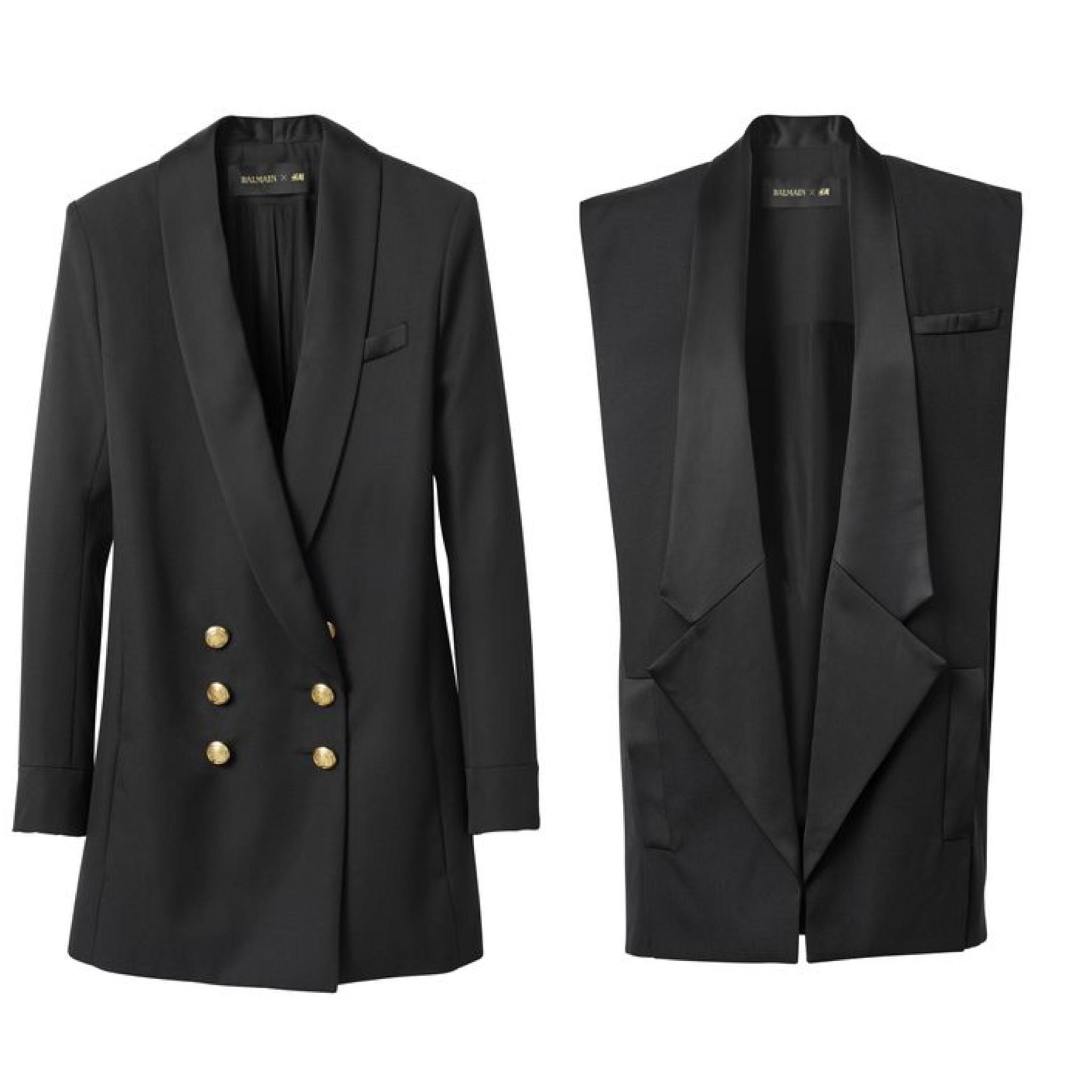 5c9d30c02 Balmain H&M blazer sleeveless vest