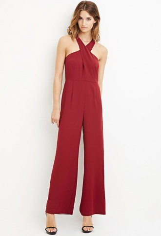 New Year Party Outfits Forever 21 burgundy jumpsuit