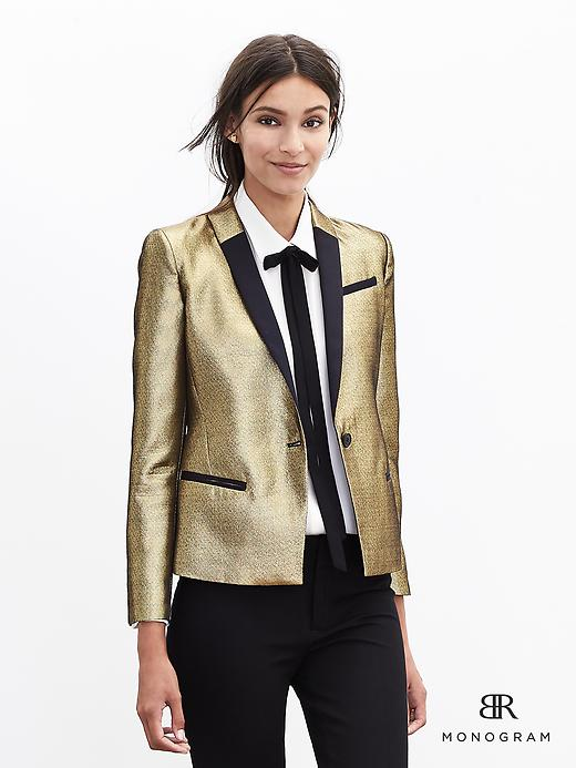 New Year Party Outfits BR gold blazer