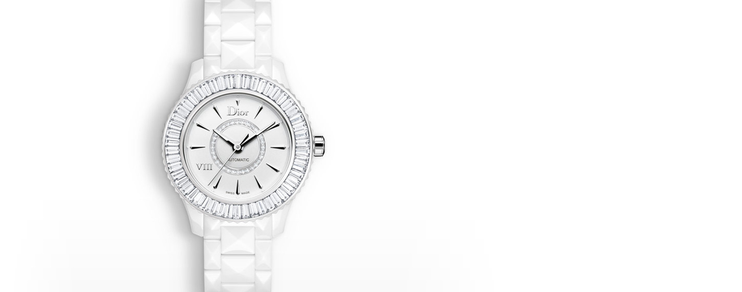 DIOR VIII BAGUETTE DIAMONDS white watch