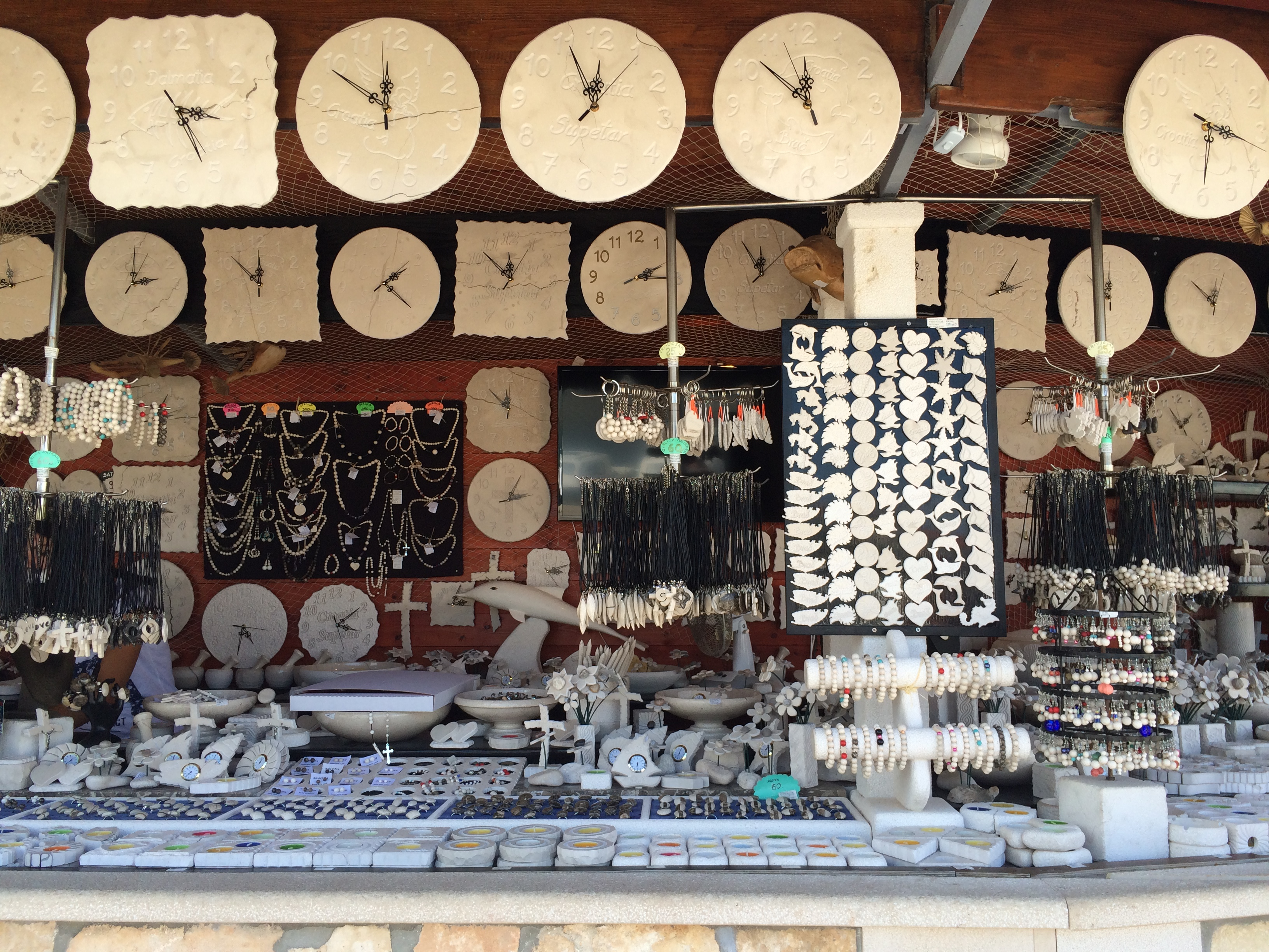 Croatia Brac local market store shop handicraft