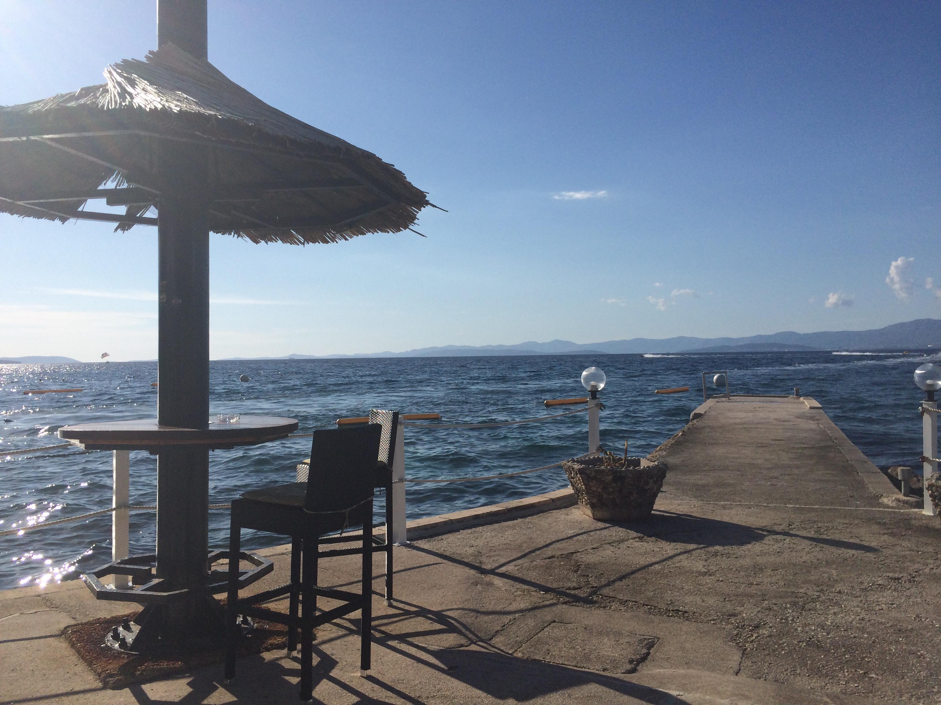 Umbrella beach seaside Croatia