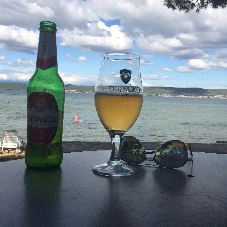 Croatia Splitvice beer sea
