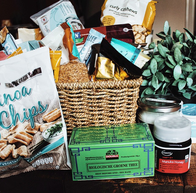 Holland & Barrett gift basket healthy snacks