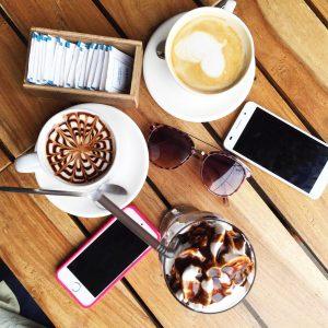 Coffee flat lay