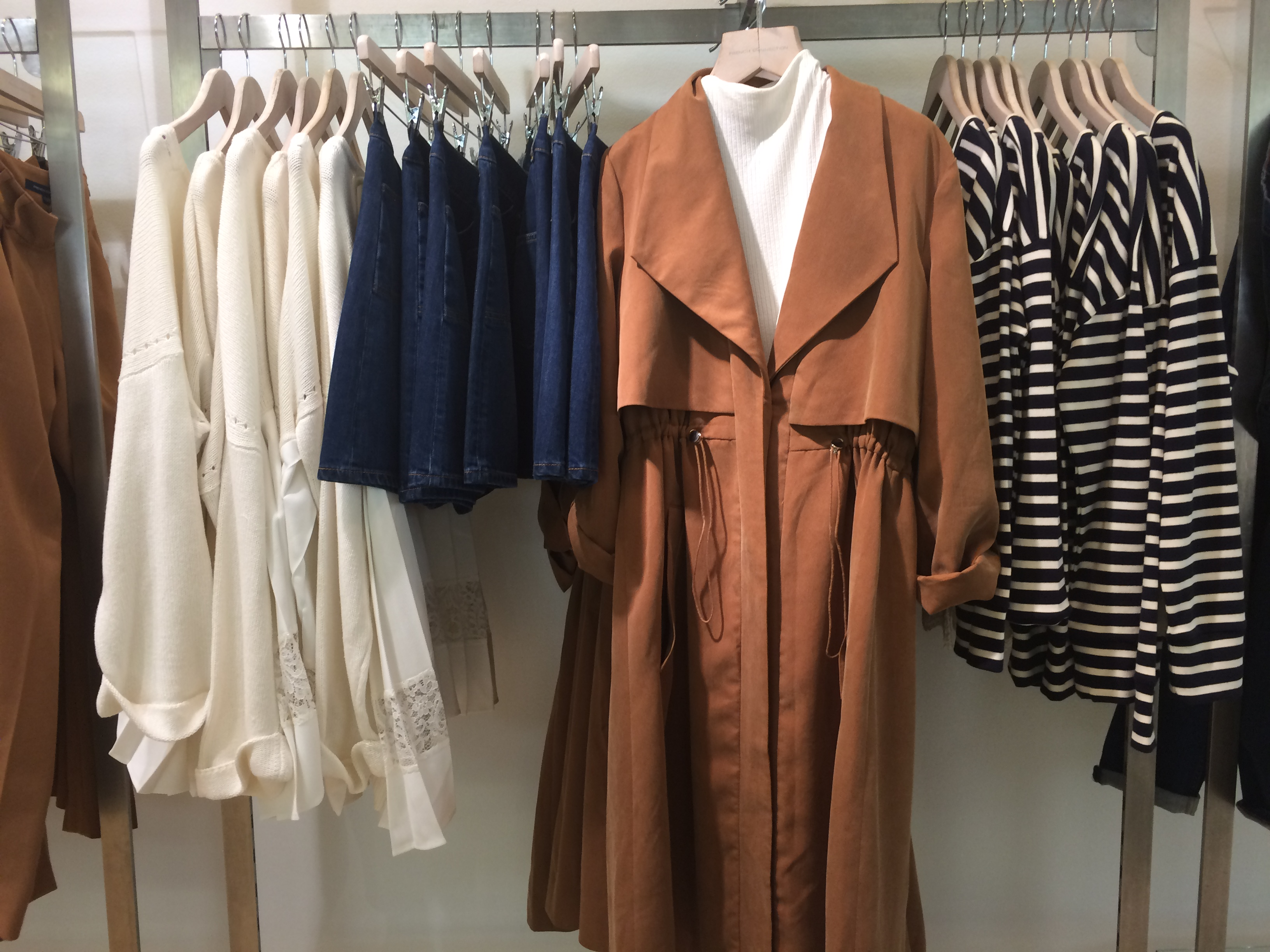 FCUK Toffee Camel Trench