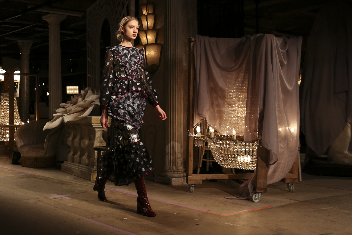 London Fashion Week Erdem AW16 FOH (Kris Mitchell, British Fashion Council)