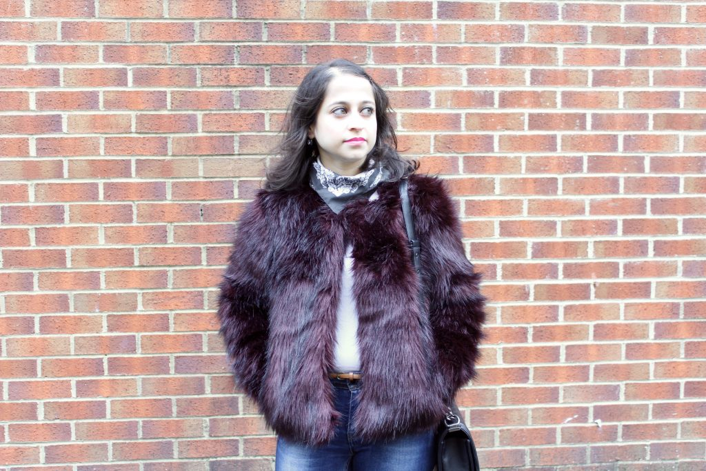 Playing Down the Faux Fur With Jeans #OOTD
