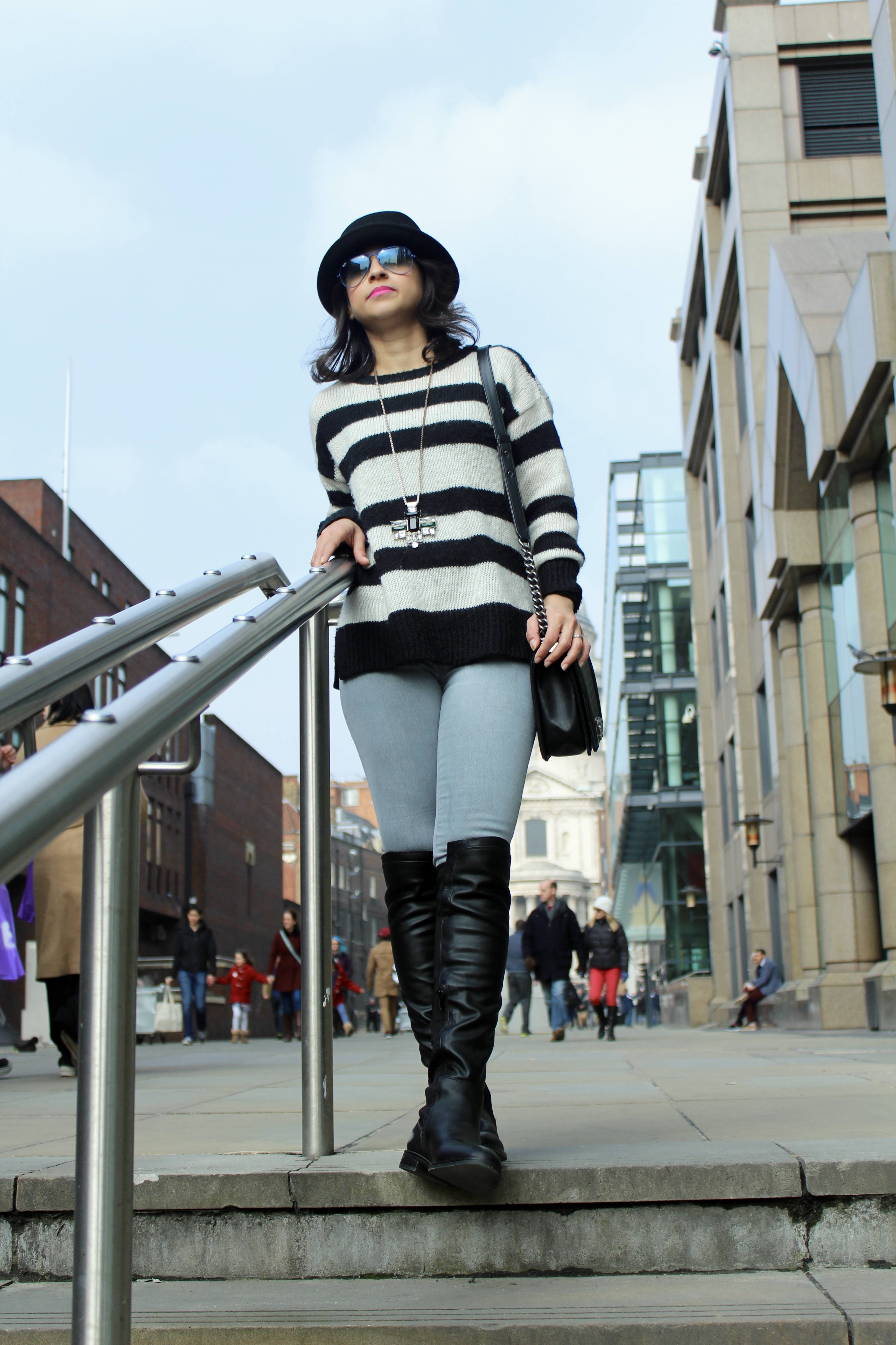 Over the Knee tall boots fashion St Paul's