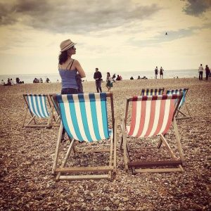 shaving care Brighton sea and deck chairs