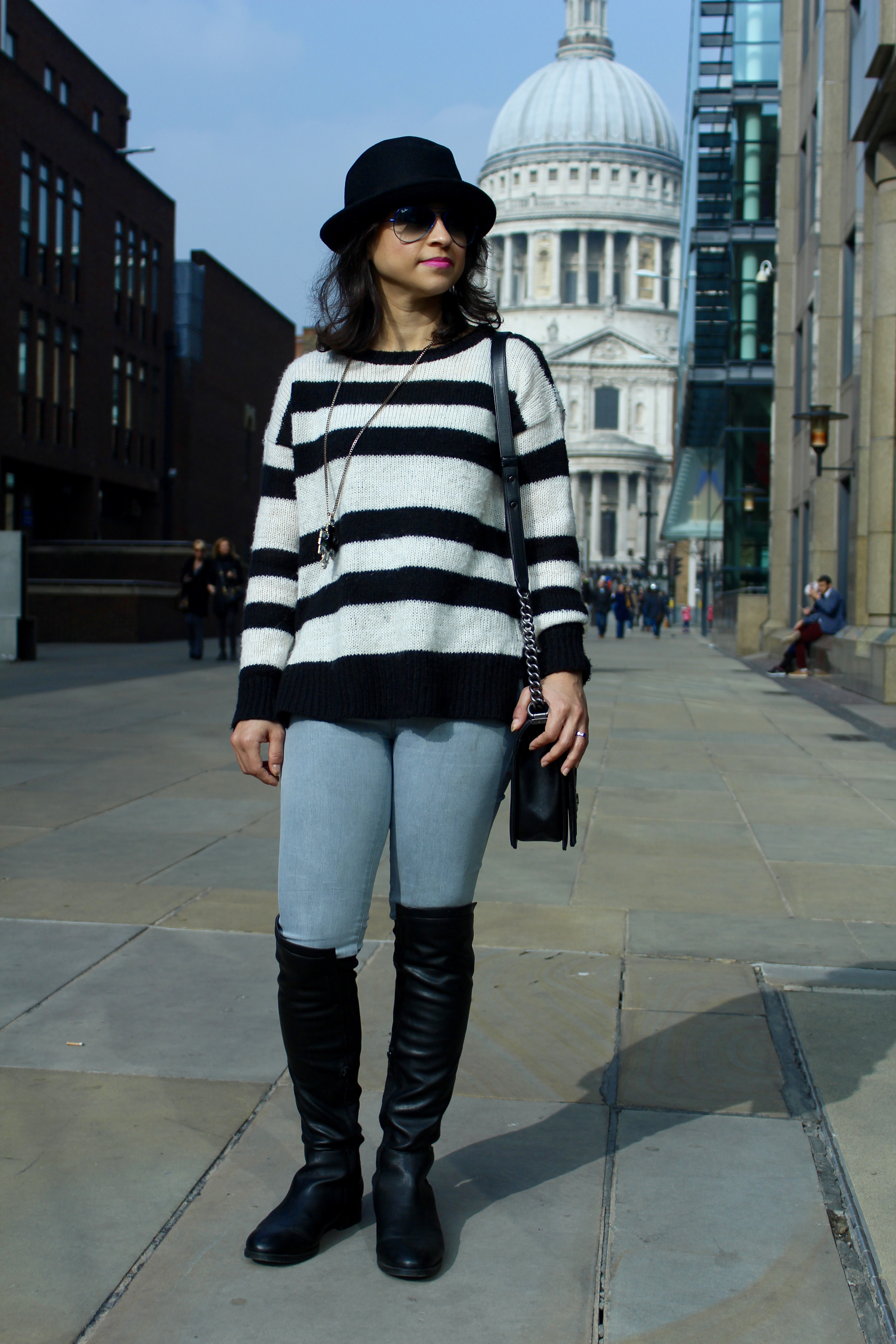 4046bf4fb31 Over the knee boots St Pauls London fashion