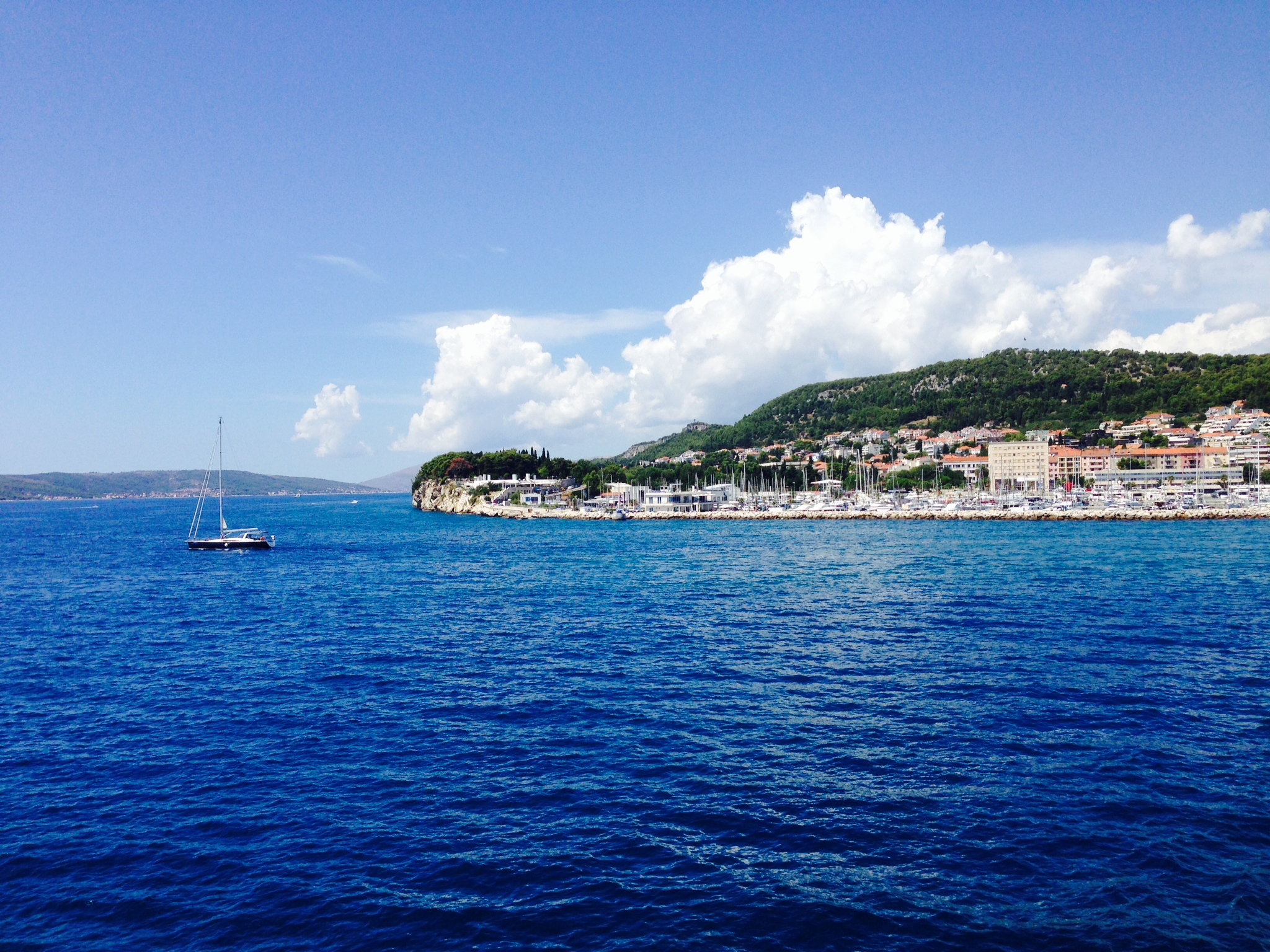 Croatia sailboat