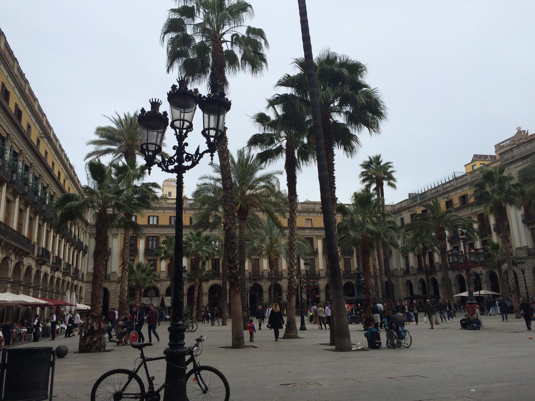 Barcelona city square Gothic