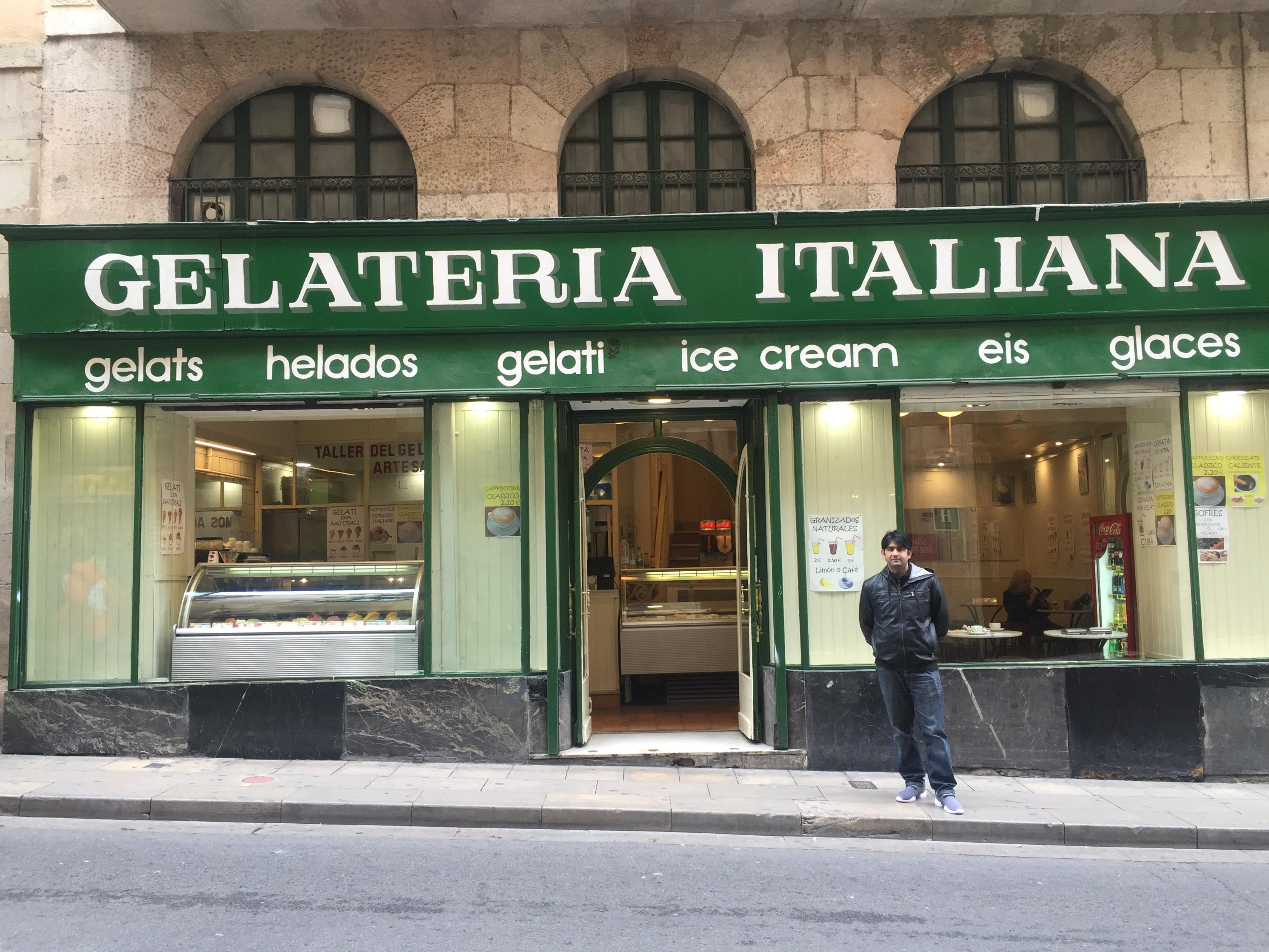 Barcelona Italian gelato