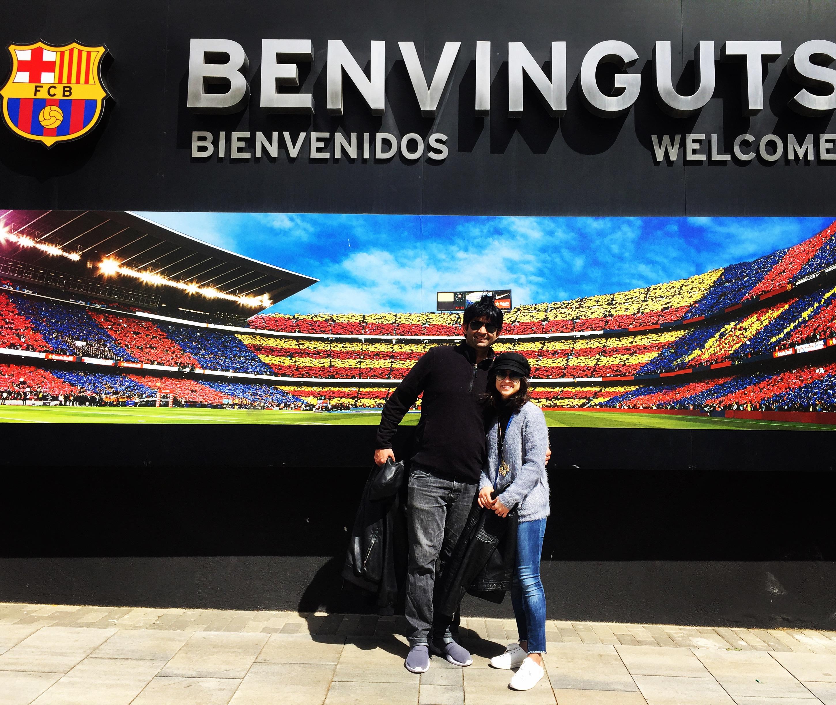 Barcelona Camp Nou football stadium