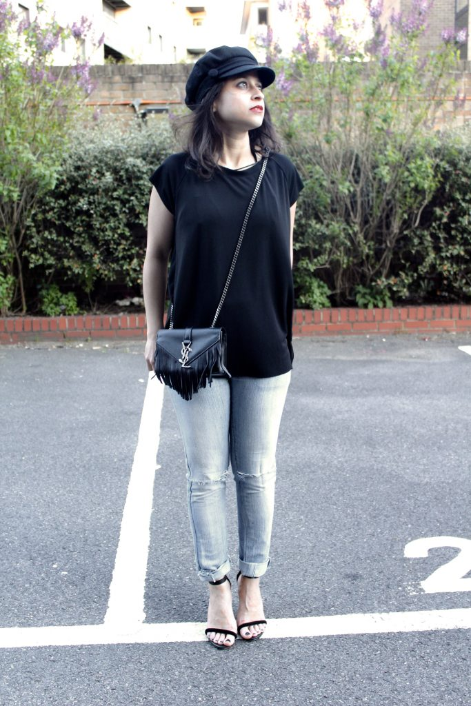 Jeans, a Tee and Yves Saint Laurent