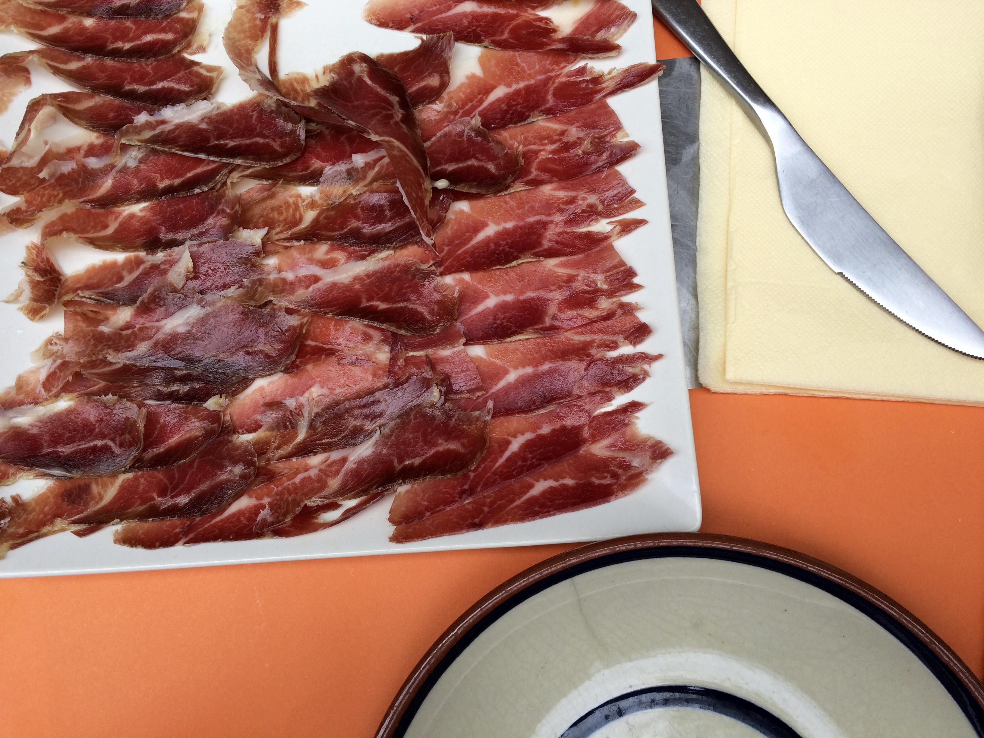 Barcelona Iberico ham food