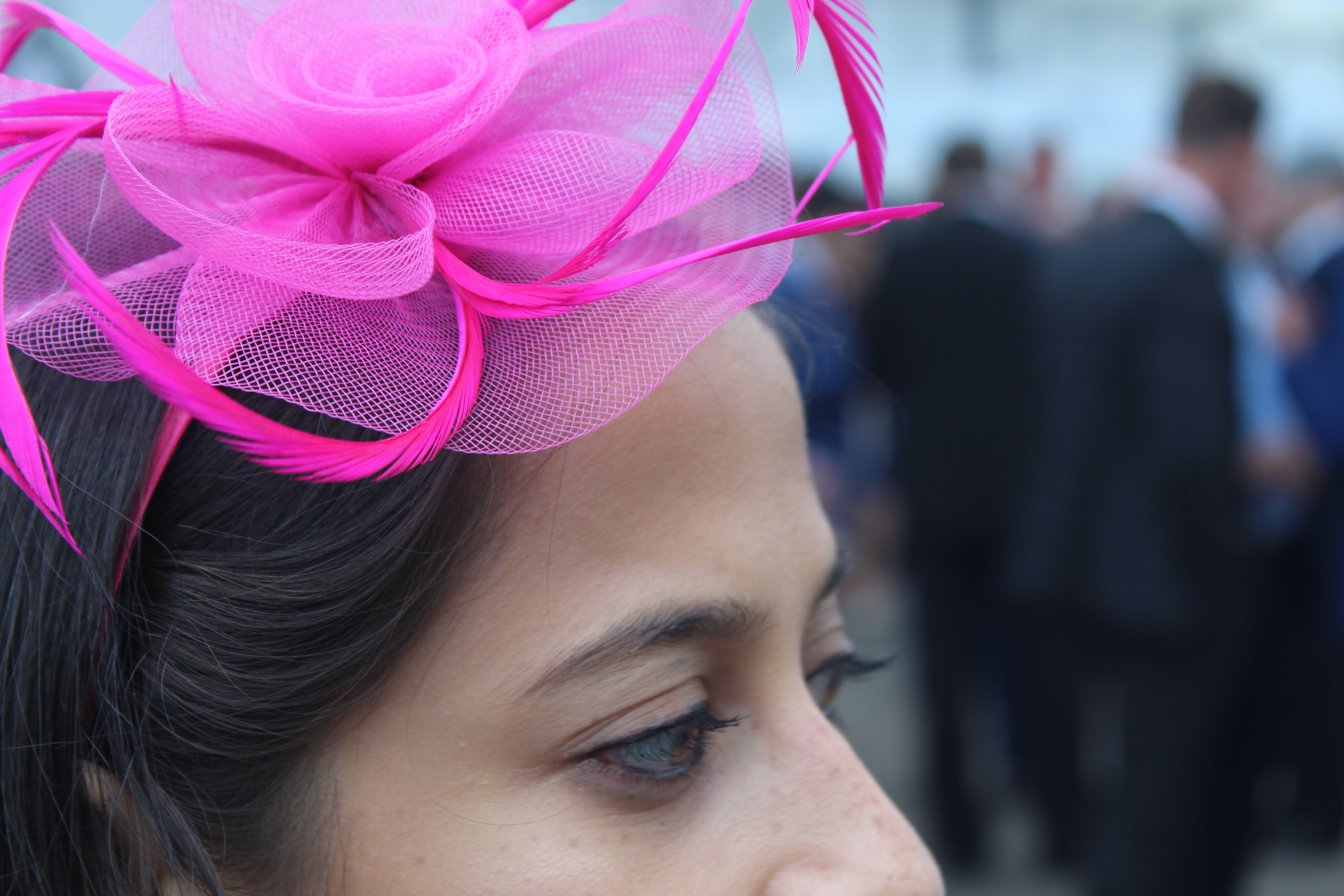Royal Ascot tent pink fascinator