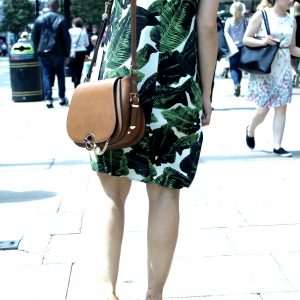Slip dress Topshop palm print