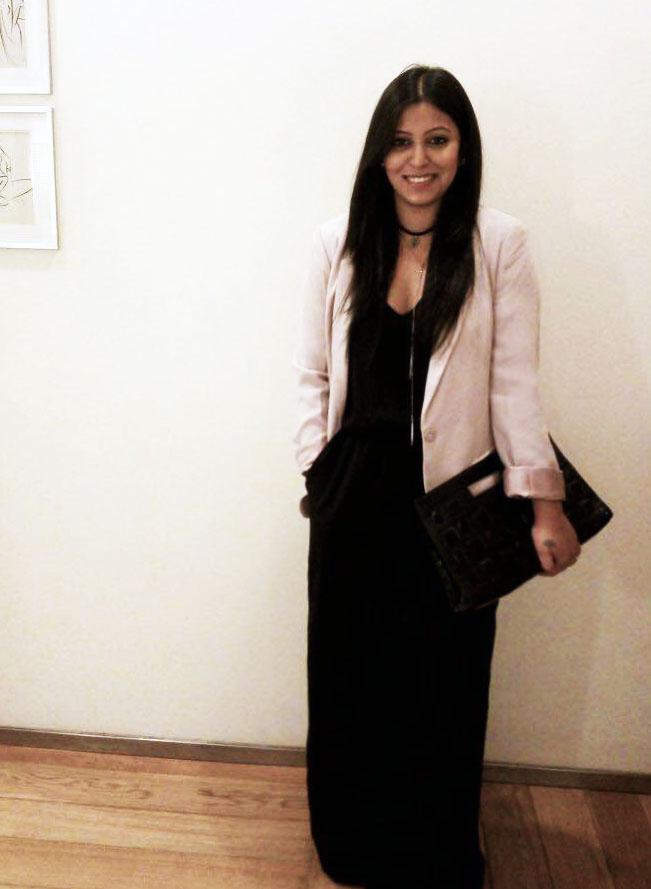 Black Jumpsuit pink blazer