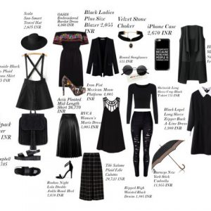 Black outfit inspiration - fashion and frappes
