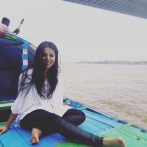 White tassel top_Boat ride_Hoogly River