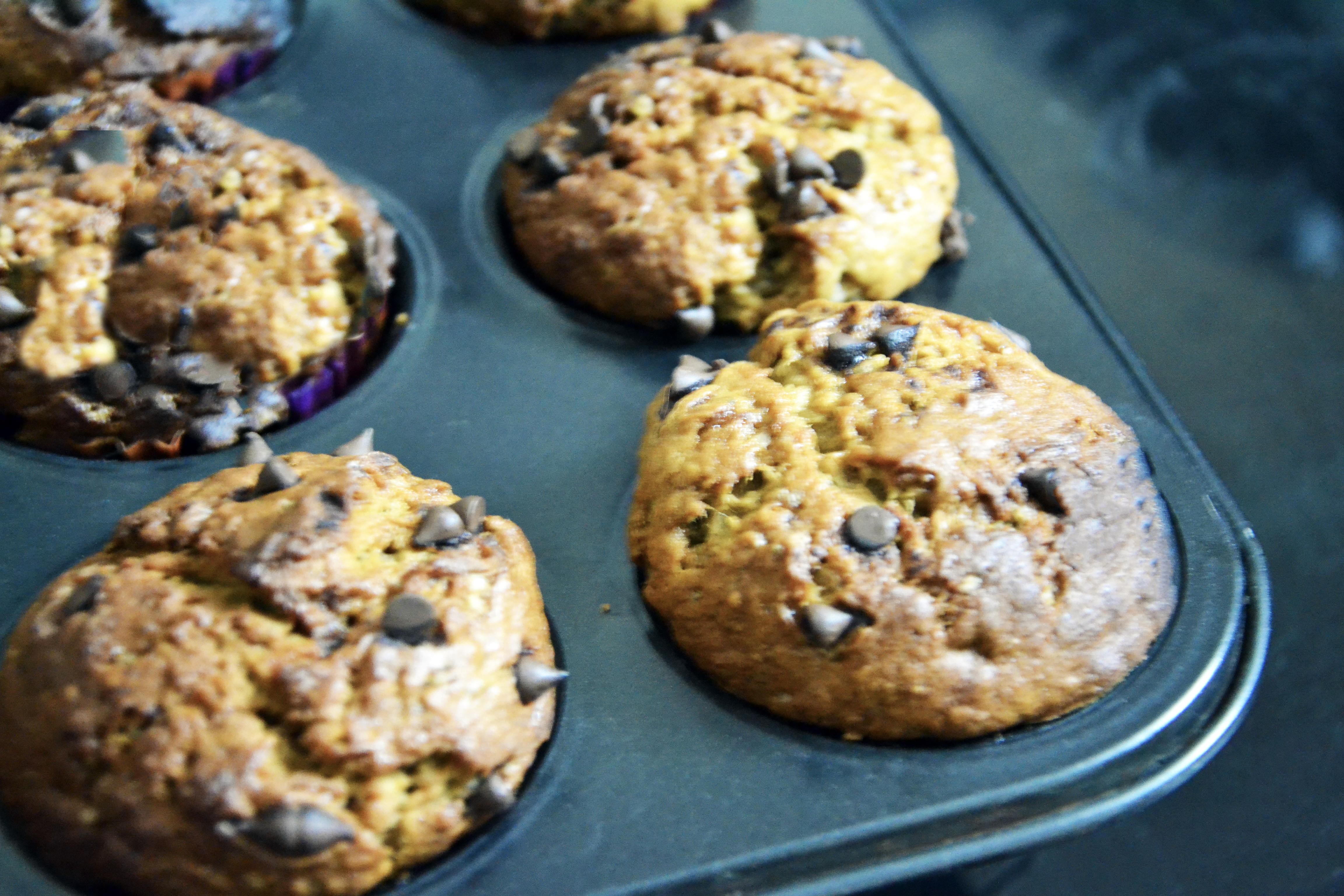 chai spice banana bread muffin