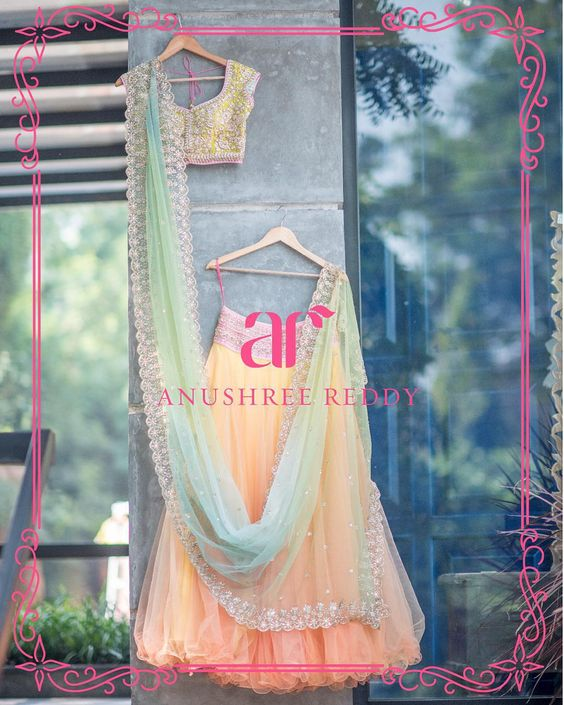 Beautiful summer lehenga choli by Anushree Reddy