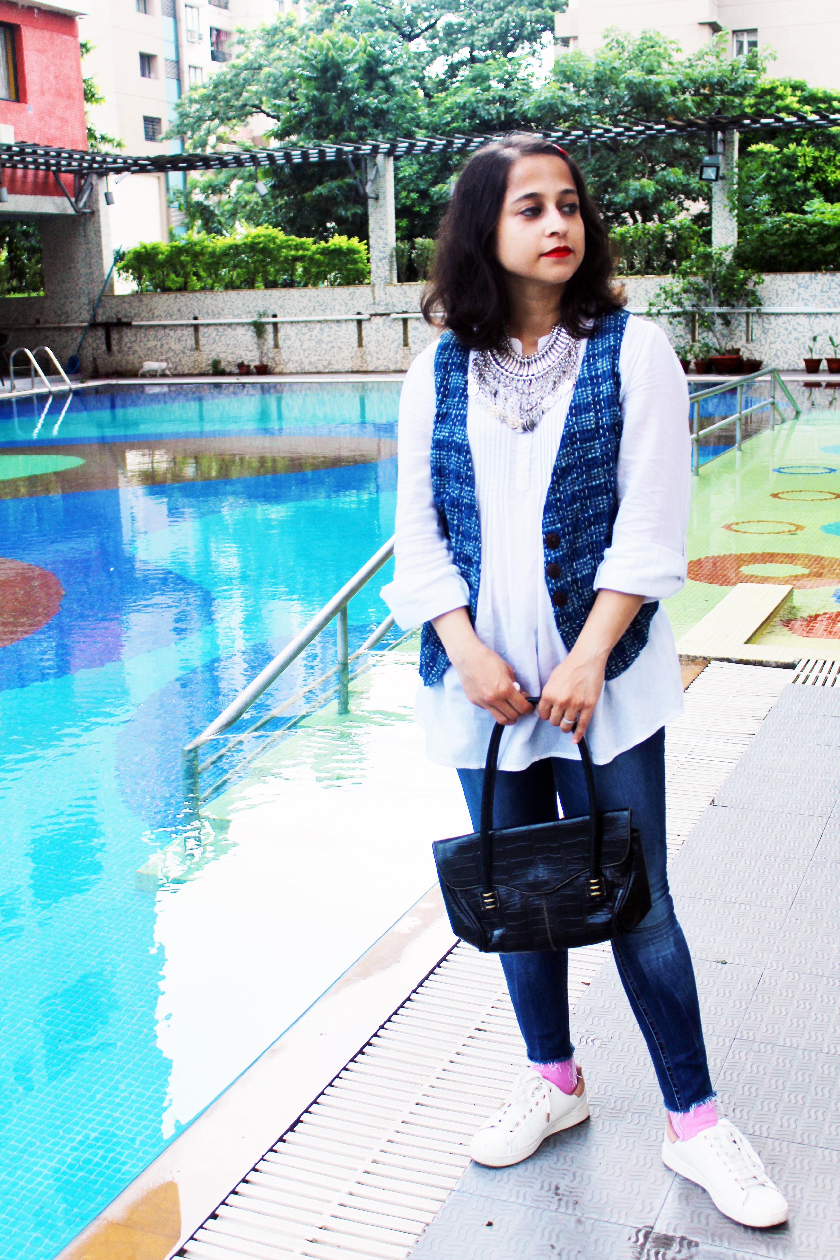 Summer layering fab India waistcoat