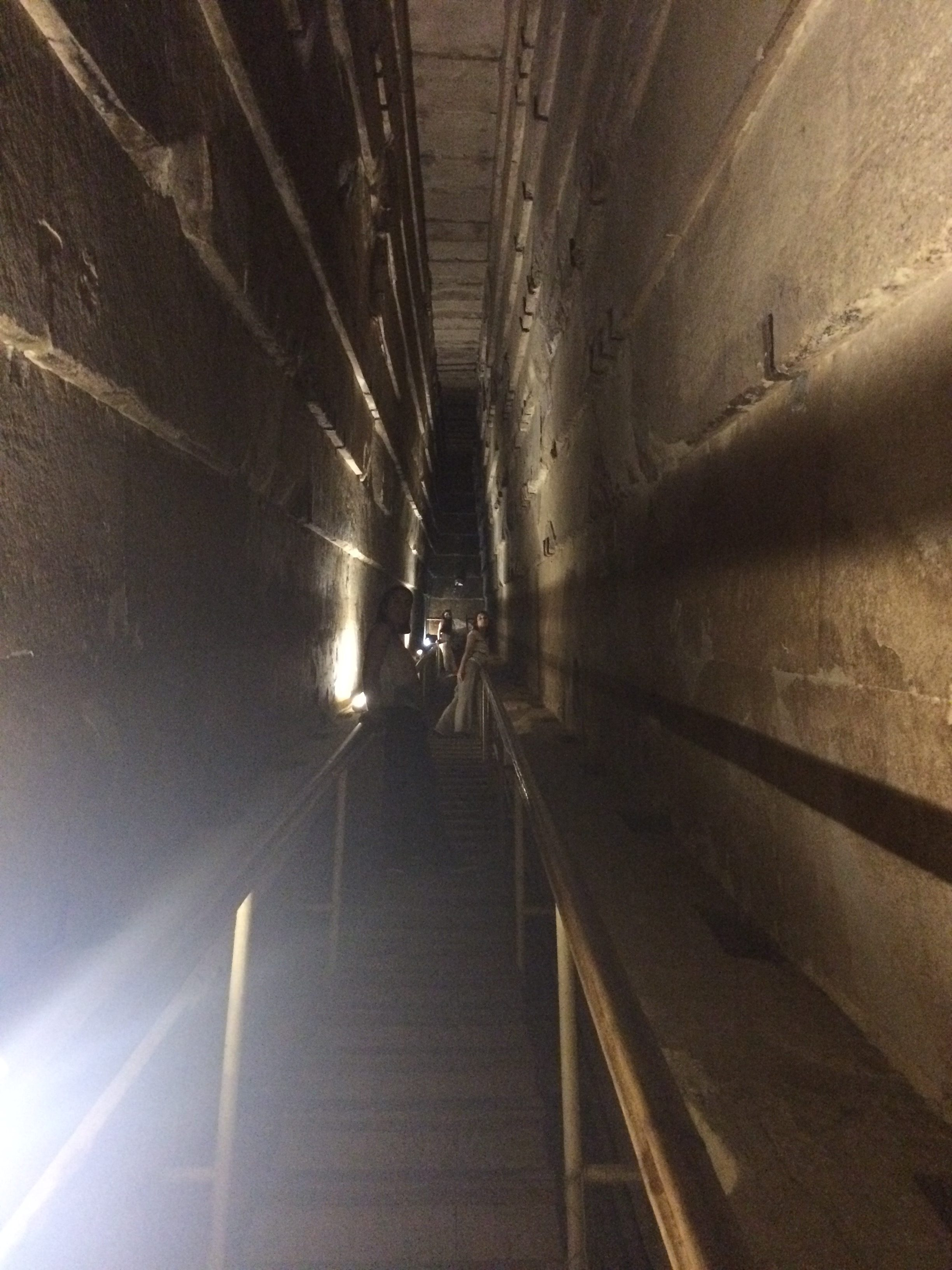 Inside the pyramid