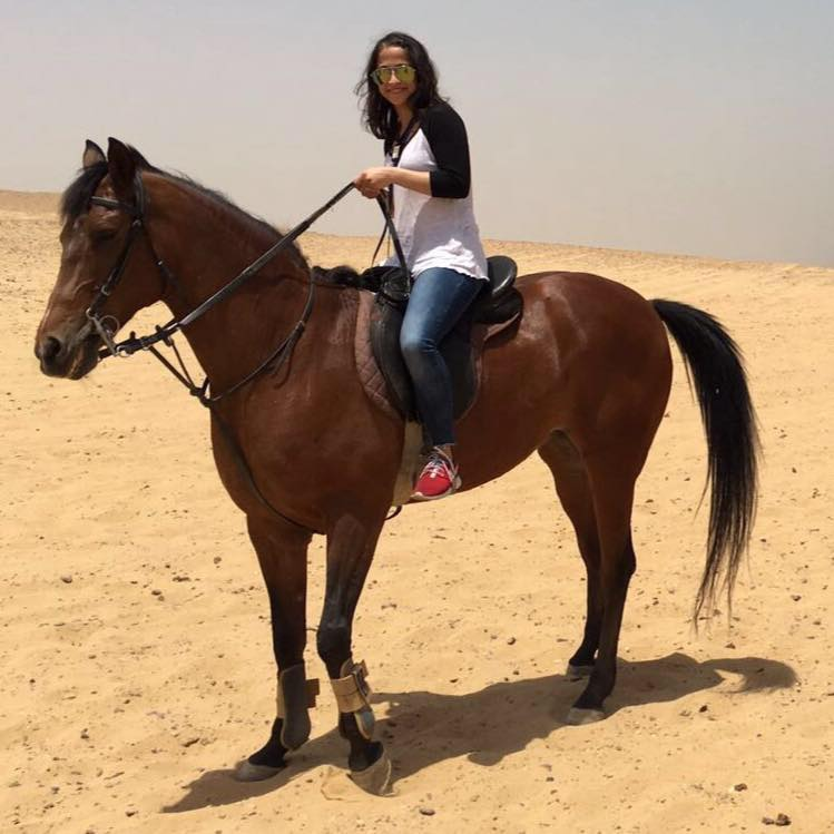 Horse riding in Cairo Egypt